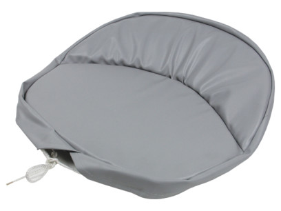 Heavy Grey Vinyl Universal Pan Seat Cushion