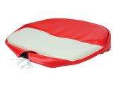 white and red pan seat cushion