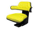 Yellow Universal tractor Seat with Adjustable Suspension