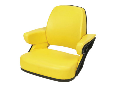 Yellow 4 Piece Replacement Cushion that Fits John Deere Models. Built with a Black Steel Back and Pan